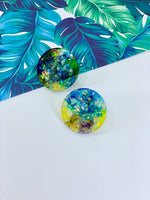 Unicorn Opal Disc Studs