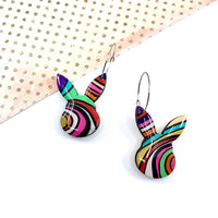 Some Bunny Hoop Dangles - Various Colours