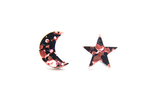 Seren and Luna Limited Edition Miss Rocky Collection Studs