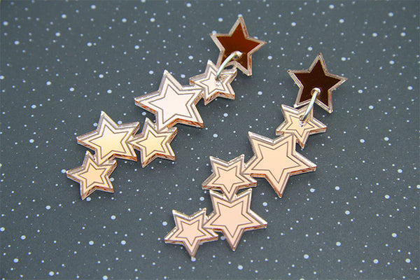 Star Trails Dangles - Various Colours