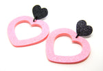 Dream Lover Heart Hoop Earrings - Various Colours