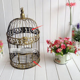 19x35cm Vintage Bronze Bird Cage Metal Decoration Prop Bird Nest  Bird Cage Creative Marriage Wedding Photography Iron Candlesti - VipPetSupply