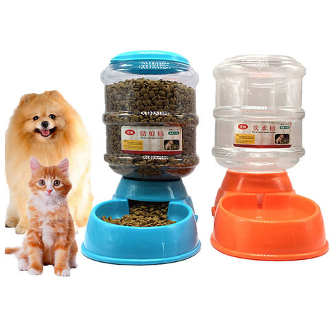 3.5L Pet dog drinkers cat automatic feeder drinking animal pet bowl water bowel for pets Dog Automatic Drinkers drop shipping