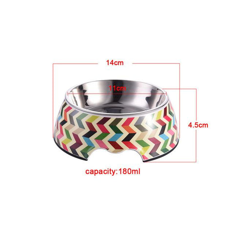 Pet Feeding Bowl - Stainless Steel - Dog Feeders, Cat Food Water Bowl