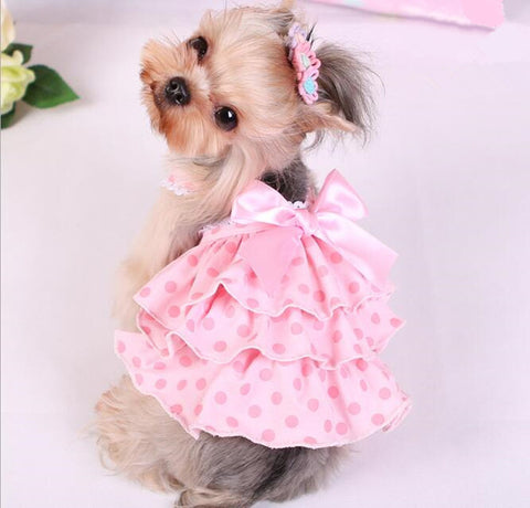 Cat Dog Cloth XS-XL Dog Dress cloth Summer Dress Puppy Pet Clothes For Dog Costume Apparel