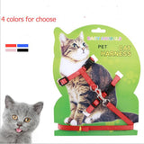 Hot Sale 4 Colors Nylon Products For Pet Cat Harness And Leash Adjustable Pet Traction Harness Belt Cat Kitten Halter Collar Cat - VipPetSupply