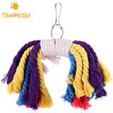 Climb The Bird Parrot Cotton Rope Chew Toys Bite Bird Toys random color - VipPetSupply