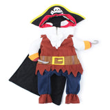 1 Set Cute Cartoon Cats Dogs Pirate Costumes Suit Dressing Up Puppy Clothes Hat Role Play S M L XL 4 Sizes Pets Accessories - VipPetSupply