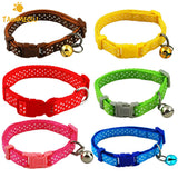 1pcs Dot Print Nylon Dog Puppy Cat Collars Multi Colors Cat Harness With Bell For Pet Small Animal Pets Supplies - VipPetSupply