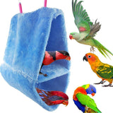 Winter Double Layer Coral Fleece Birds Hammock Parrot house bed Warm Nest Hanging Bed House Bird Cages Nest Bird Supplies S M L - VipPetSupply