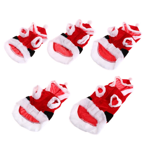 Pet Kitty Party Outfit Christmas Clothes Warm Coat Cute Costume With Hat For Puppy Dog Cat Apparel Kitten