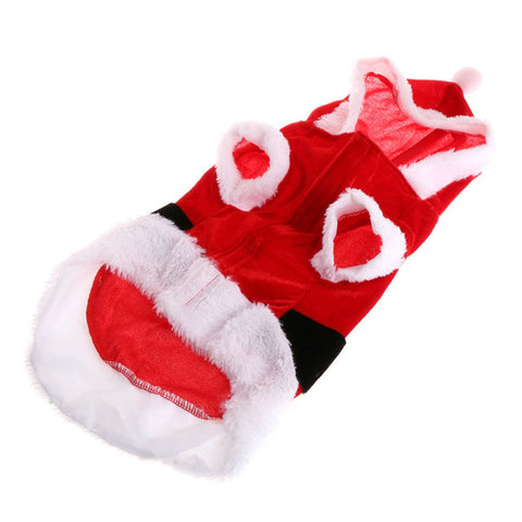 Pet Kitty Party Outfit Christmas Clothes Warm Coat Cute Costume With ...