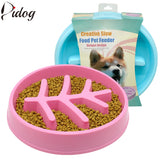 Slow Dog Cat Feeding Bowl Cat Food Anti-Choking Pet Feeder Cat Puppy Food Dish Pet Drink Water Bowls Non Slip Blue Pink S M - VipPetSupply