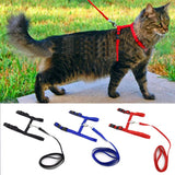 CAZZO Cat Dog Collar Harness And Leash Adjustable Nylon Pet Traction Cat Kitten Halter Collar Cats Products For Pet Harness Belt - VipPetSupply