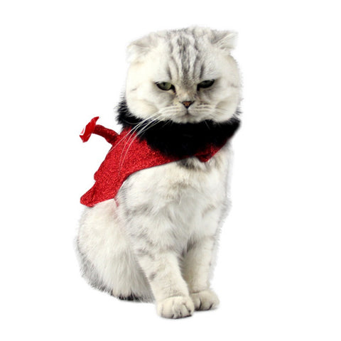 Lovely Pet Cat Dog Cloth Red Little Devil Clothes with a Tail For Pet Christmas Halloween Decoration