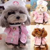 Sweet Pet Dog Cat Costume Suit Puppy Clothes Nurse Outfit For Halloween Christmas Party Gift - VipPetSupply
