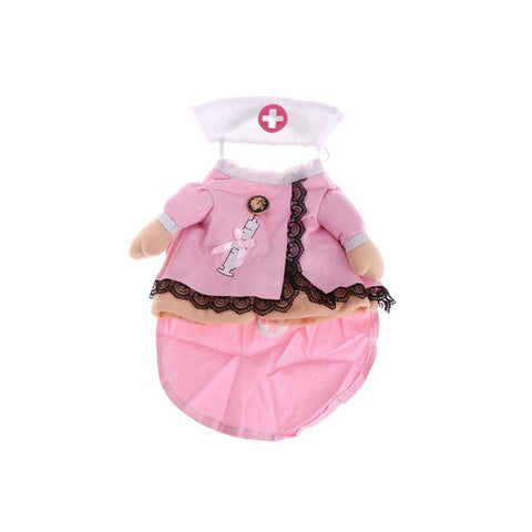 Pink Sweet Pet Dog Cat Costume Suit Puppy Clothes Nurse Outfit For Halloween Christmas Festivals Parties Gift S/M/L/XL New C42