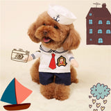 Comfortable Pet Dog Cat Costume Suit Puppy Clothes Sailor Outfit For Halloween Christmas New - VipPetSupply