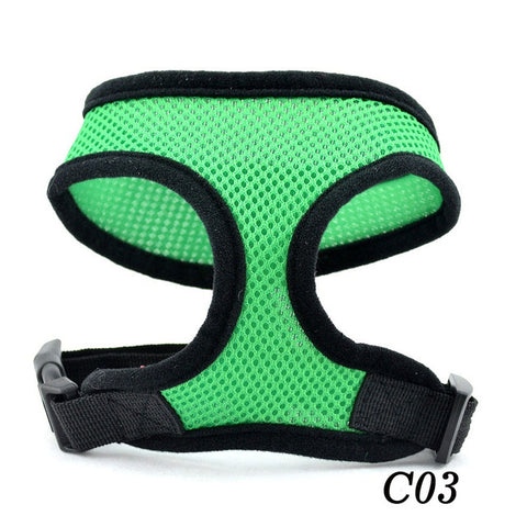 Pet Dog Puppy Mesh Cloth Harness 5 Size Adjustable Soft Pet Accessories Harnesses For Small Medium Dogs Mesh Leash Harness