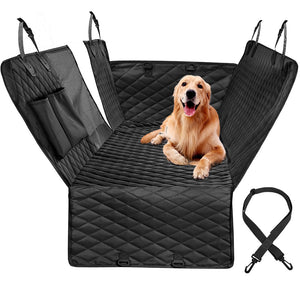 Luxury Quilted Dog Car Seat Cover Side Flap Car Travel Pet Carrier Backseat Cover Waterproof Nonslip With Zipper and Pockets ( 3 - 5 days delivery ) - Harris & Bains Pet Shop