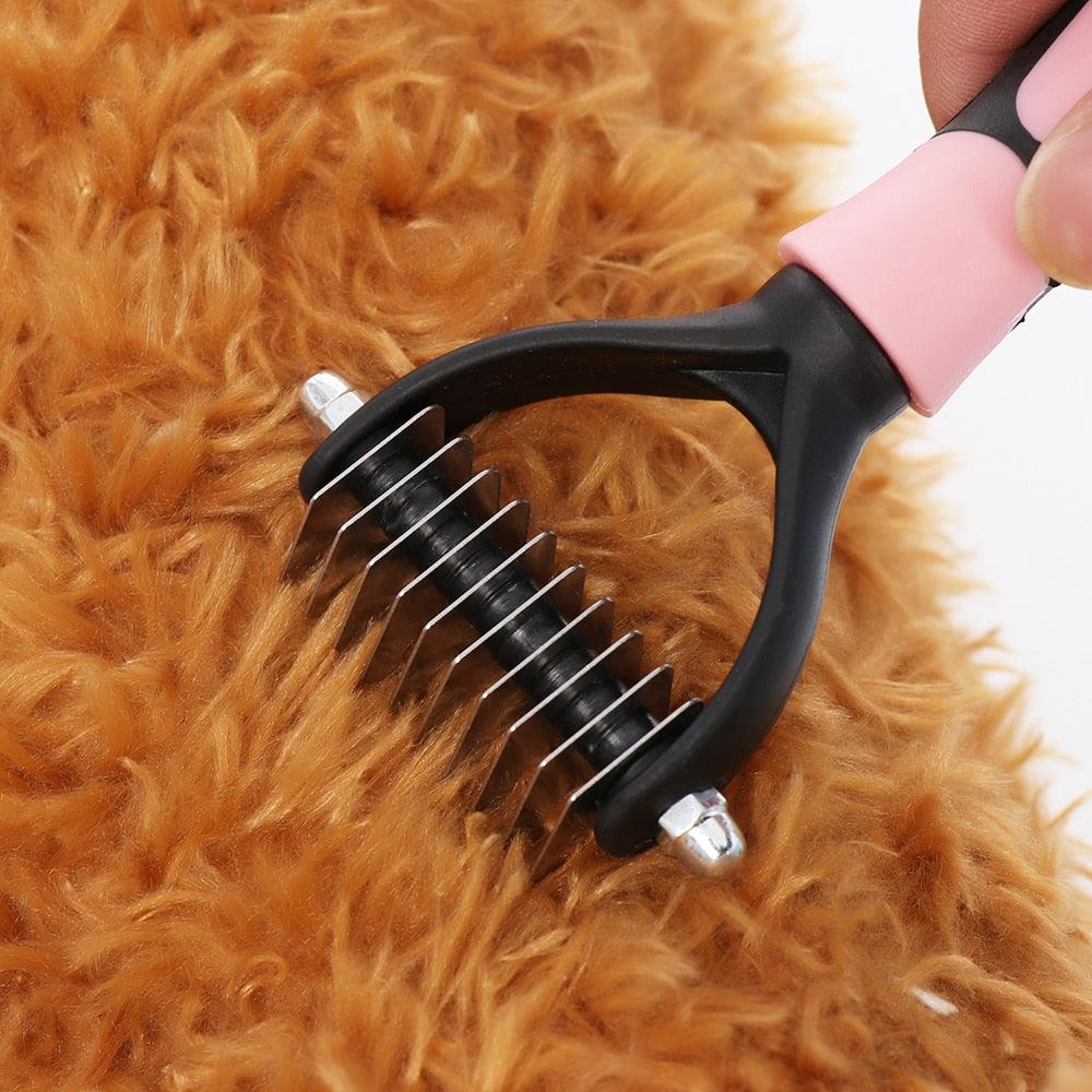 Effective Pet Dematting Comb Dog Cat Hair Grooming - Harris & Bains Pet Shop