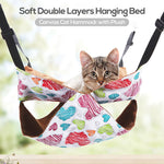 Hammock Foe Cat Pet Cat Hammock Soft Double Layers - Harris & Bains Pet Shop