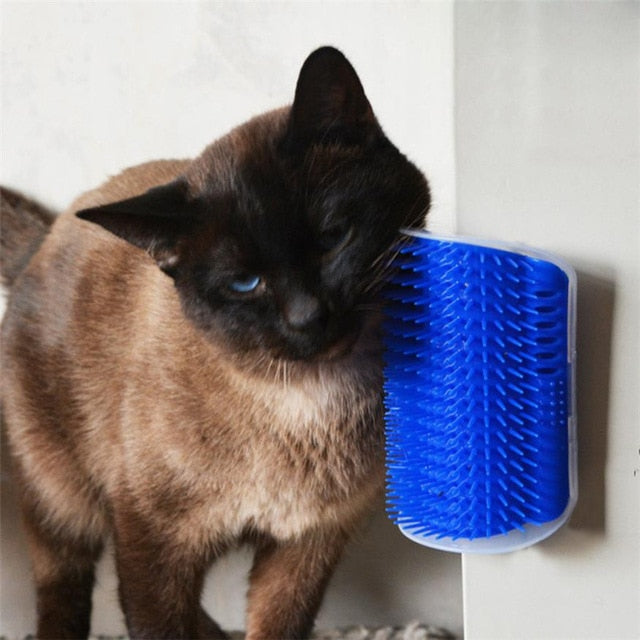 Lovely Pet Cat Self Groomer Wall Corner Massage - Harris & Bains Pet Shop