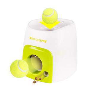 Pet Ball Launcher Toy Dog Tennis Food Reward Machine Thrower Interactive Treatment Slow Feeder Toy Suitable For Cats And Dogs - Harris & Bains Pet Shop