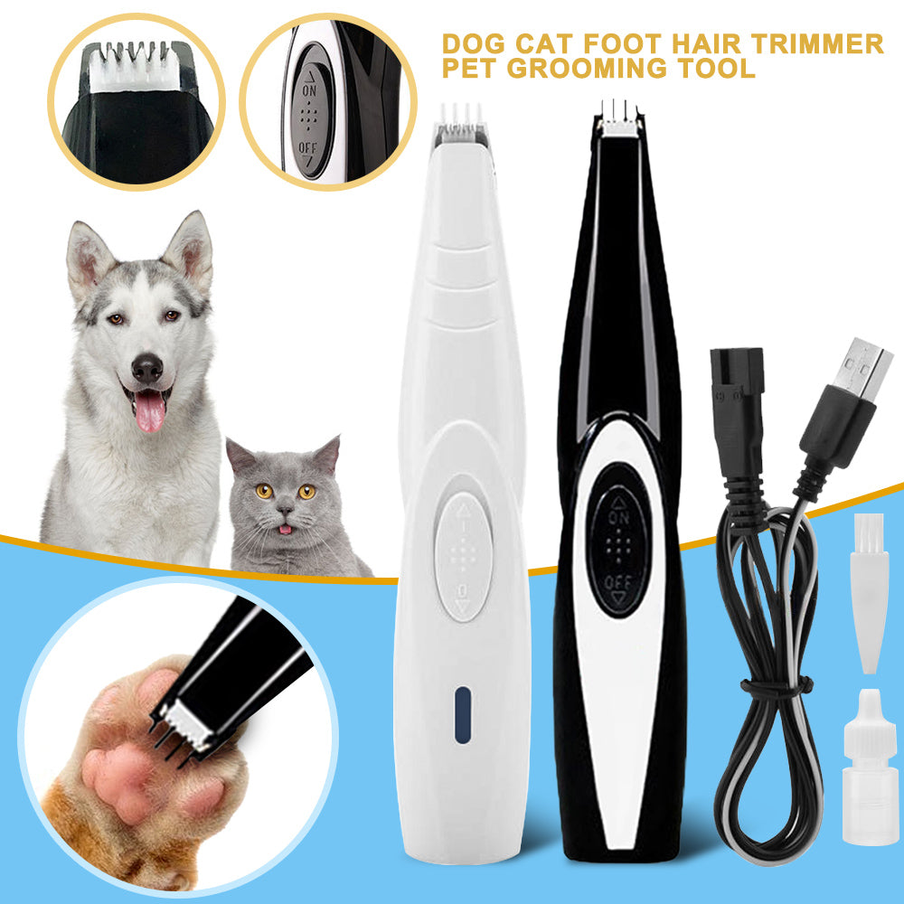 New Dog Cat Foot Hair Trimmer Portable Pet Paw Nail Grooming Clipper Shaver - Harris & Bains Pet Shop