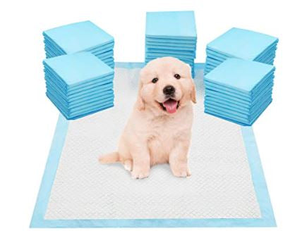 Heavy Duty Large Pet Puppy Training Pads - Super Absorbent & Odour Locking Multi-Layered Floor Toilet Mats with Scented Attractant (50 Pack) ( 5 - 8 days delivery) - Harris & Bains Pet Shop