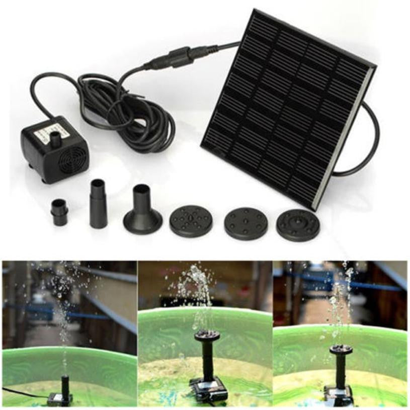 Outdoor Solar Powered Bird Bath, Water Fountain Pump ( 2 - 3 days delivery) - Harris & Bains Pet Shop