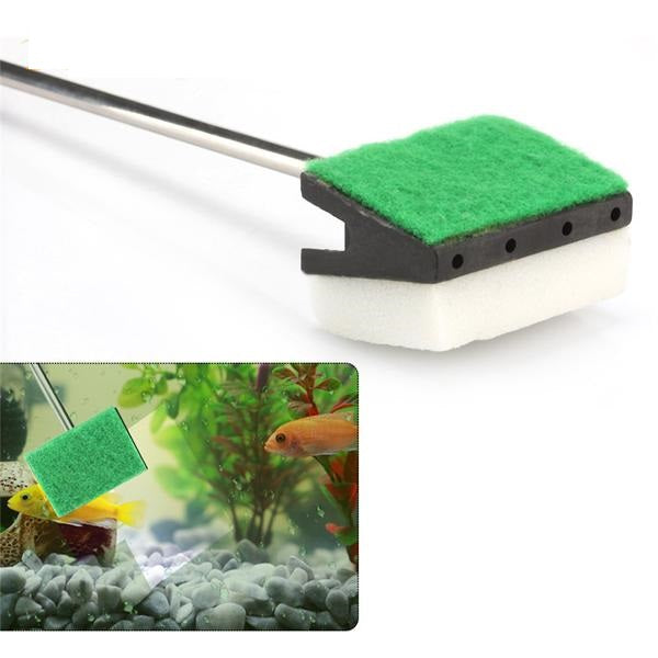 "18.5"" Double-Faced Brush, Cleaning Sponge,  Algae Scraper For Aquarium - Harris & Bains Pet Shop"