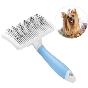 Pet Slicker Brush with a Press Button to Remove Mats Tangles - Harris & Bains Pet Shop