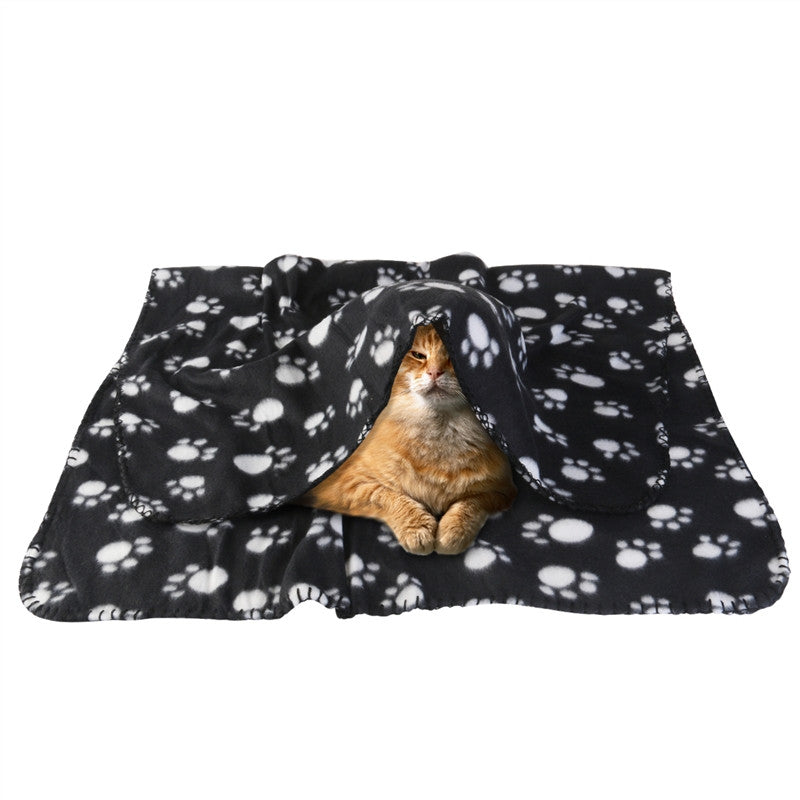 Paw Print Fleece Blanket For Cats & Dogs ( 3 - 5 working days ) - Harris & Bains Pet Shop