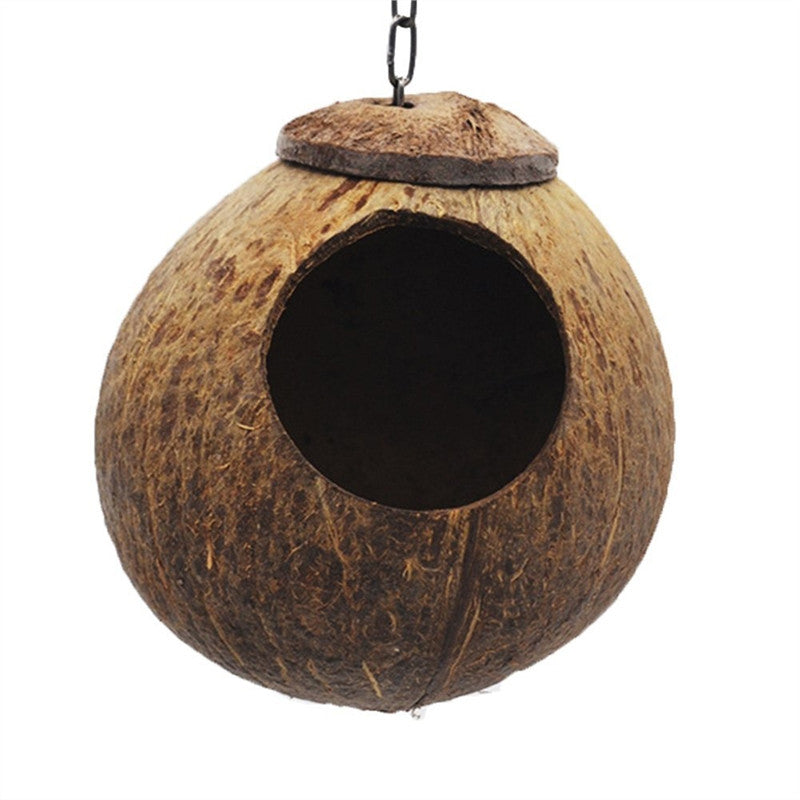 Coconut Bird Nest For Parakeets And Small Pet - Harris & Bains Pet Shop
