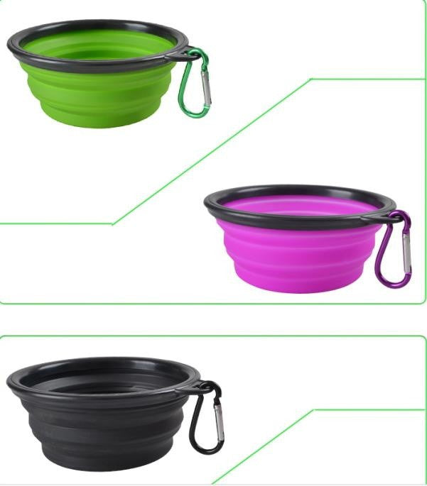 Foldable Silicone Bowl, Drinking Water Bowl - Harris & Bains Pet Shop