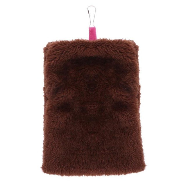Soft Coral Fleece Small Pets Hanging Bag - Harris & Bains Pet Shop