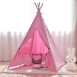 Lovely Viennese Four Poles Kids Canvas Teepee - Harris & Bains Pet Shop