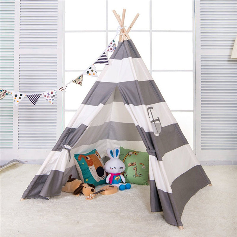 Cute Stripe Kids Teepee  Play Area - Harris & Bains Pet Shop