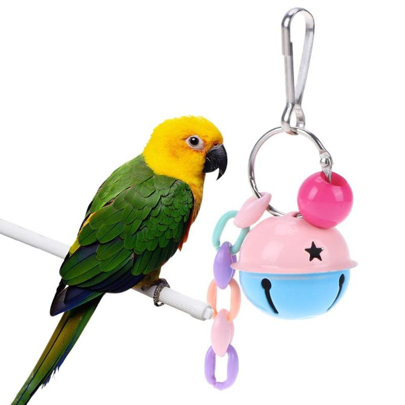 Hanging Ring Bell Ball For Birds - Harris & Bains Pet Shop