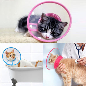 Adjustable Recovery Pet Collar Cone - Harris & Bains Pet Shop