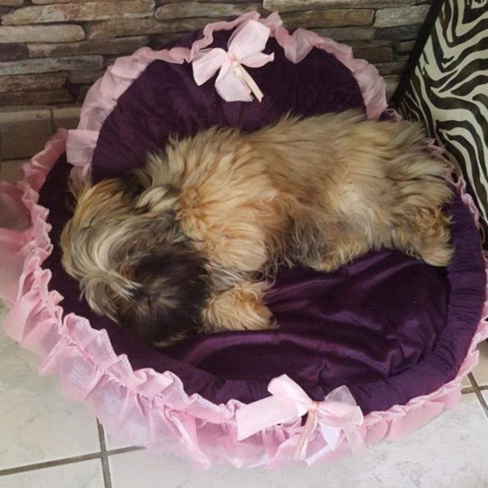 Cute Lace Pet Princess Cat or Dog Beds - Harris & Bains Pet Shop