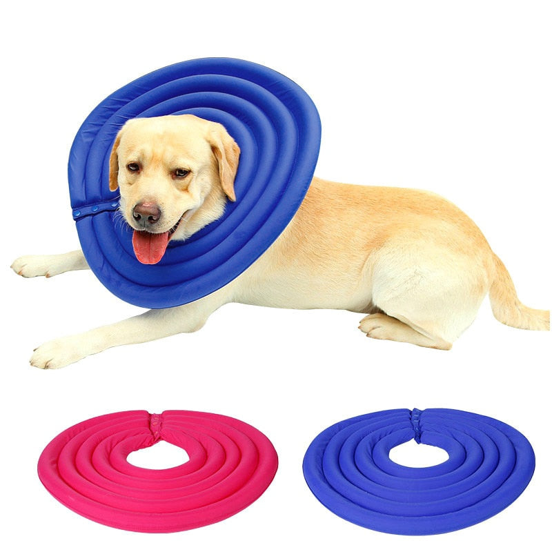 Pet Dog Recovery Collar Protective Inflatable For Small Medium Large Dogs - Harris & Bains Pet Shop