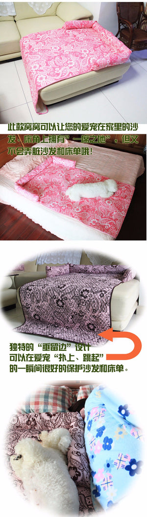 Dog Bed For Large Dogs Cotton Mat Washable - Harris & Bains Pet Shop