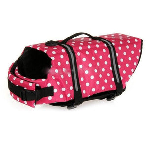 Dog Life Jacket Safety Clothes Life Vest Collar Harness 5 Sizes - Harris & Bains Pet Shop