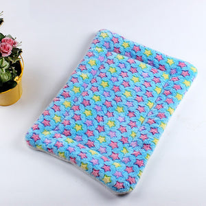 Star Pattern Coral Fleece Pets Cushion - Harris & Bains Pet Shop