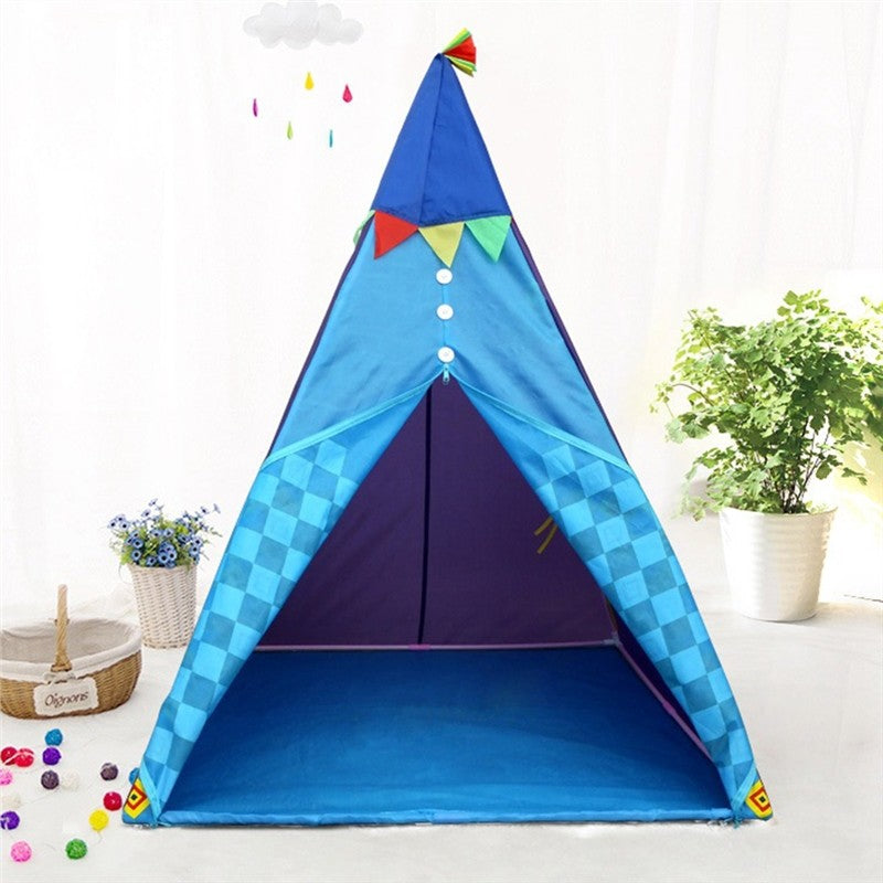 Foldable Kids Teepee Play Tents Indoor Outdoor Portable - Harris & Bains Pet Shop