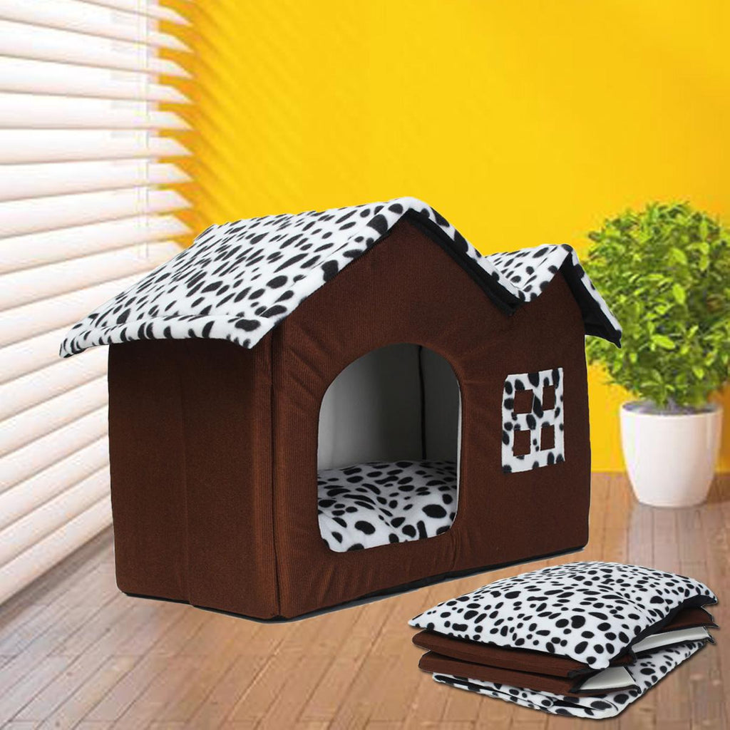 Portable Luxury Spot Double Top Pet House Dog / Cat - Harris & Bains Pet Shop