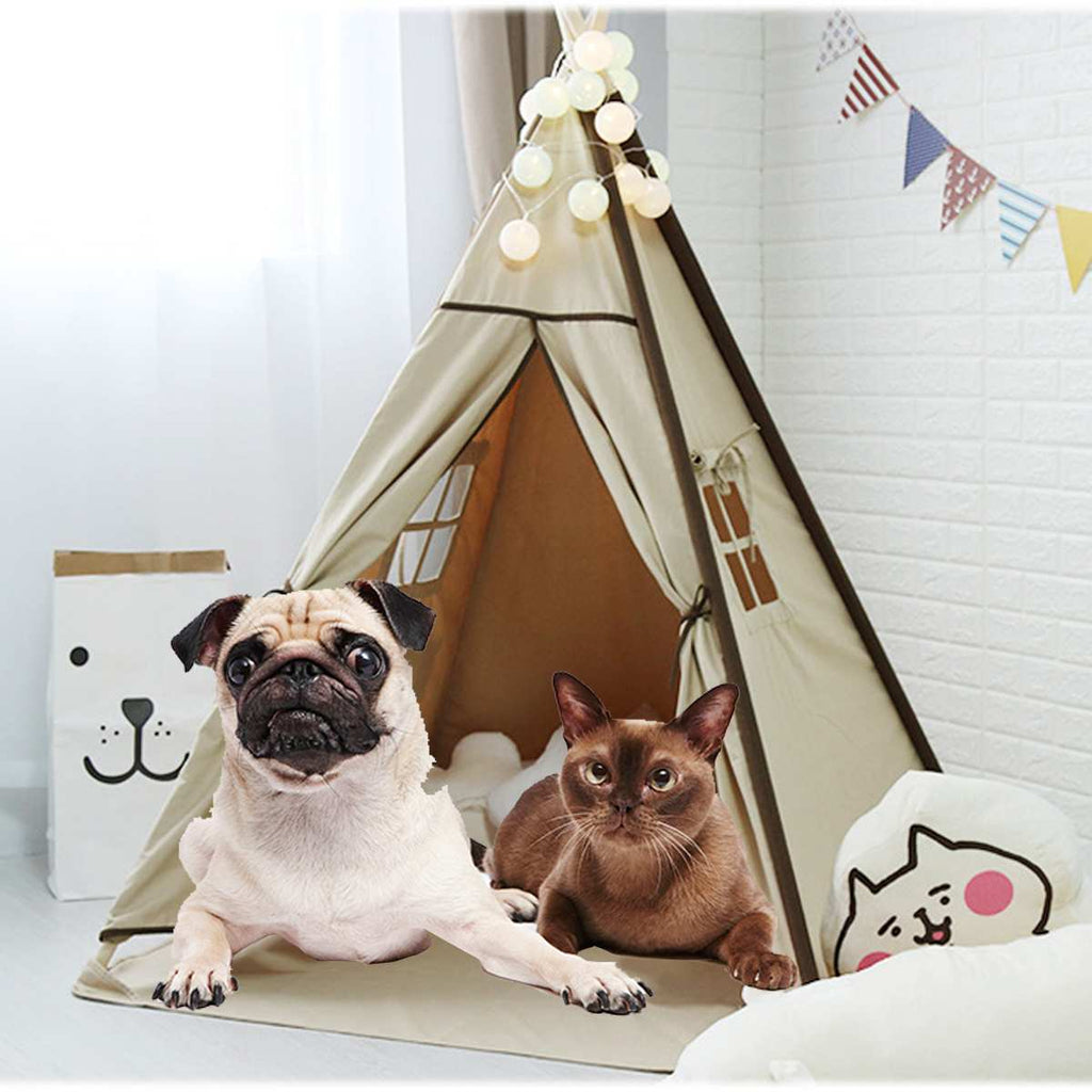 White Canvas Teepee House - Harris & Bains Pet Shop