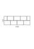 Brickbox Large - 4 Wide Credenza setting
